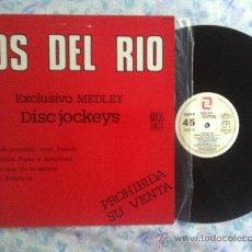 """Discos de vinilo: 12"""" MAXI-LOS DEL RIO-EXCLUSIVO MEDLEY-TE ESTAS PONIENDO VIEJO,PICOCO-PROMO. Lote 34203386"""