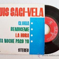 Discos de vinilo: LUIS SAGI-VELA - GLORIA… (STEREO) ¡¡NUEVO!! (ZAFIRO EP 1963) ESPAÑA. Lote 34205617