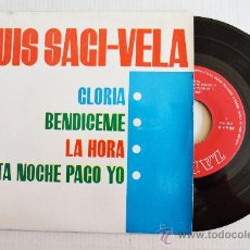 Discos de vinilo: LUIS SAGI-VELA - GLORIA… ¡¡NUEVO!! (ZAFIRO EP 1963) ESPAÑA. Lote 34205629