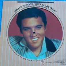 Discos de vinilo: ELVIS PRESLEY,JAILHOUSE ROCK-LOVE IN LAS VEGAS EDICIO INGLESA DEL 83 PICTURE DISCO. Lote 34210508