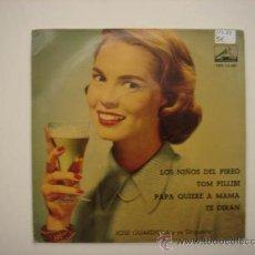 Discos de vinilo: SINGLE JOSÉ GUARDIOLA Y SU ORQUESTRA. Lote 34212134