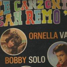 Discos de vinilo: LP LE CANZONI DI SAN REMO ´65 (BOBBY SOLO, WILMA GOIG, DON POWELL, KIKO FUSCO, ORNELLA VANONI, ETC . Lote 34215101