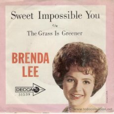 Discos de vinilo: BRENDA LEE - SWEET IMPOSSIBLE YOU - THE GRASS IS GREENER - SG ENGLAND - VG+ / VG++. Lote 34219626