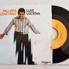 Discos de vinilo: LUIS LUCENA - FALLERA VALENCIANA/TODOS HABLAMOS ¡¡NUEVO!! (RCA SINGLE 1977) ESPAÑA. Lote 34220171