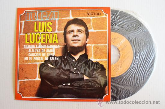 LUIS LUCENA - CUANDO LLEGUE NAVIDAD… ¡¡NUEVO!! (RCA EP 1970) ESPAÑA (Música - Discos de Vinilo - EPs - Solistas Españoles de los 70 a la actualidad)