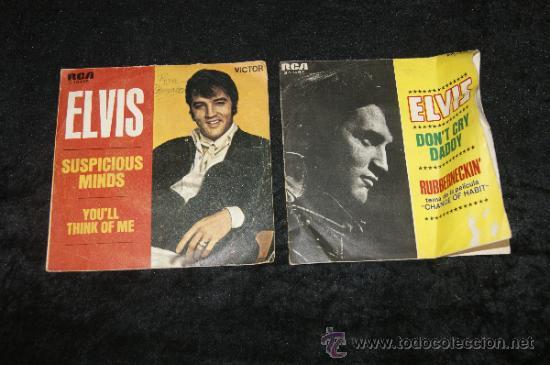 PAREJA DE DISCOS DE ELVIS PRESLEY, ANTIGUOS. (Música - Discos - Singles Vinilo - Pop - Rock Extranjero de los 50 y 60)