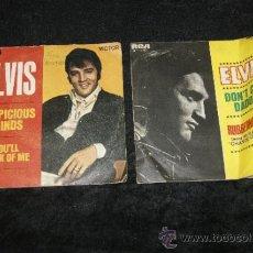 Discos de vinilo: PAREJA DE DISCOS DE ELVIS PRESLEY, ANTIGUOS.. Lote 34330803
