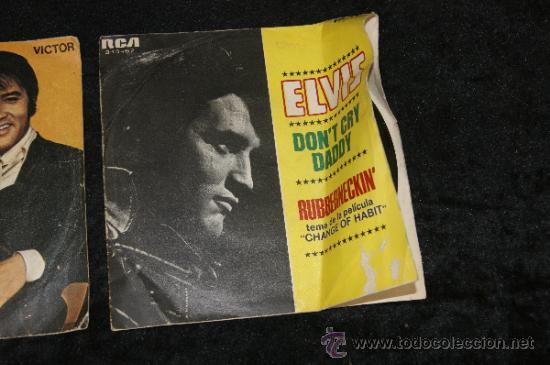 Discos de vinilo: Pareja de discos de Elvis Presley, antiguos. - Foto 3 - 34330803