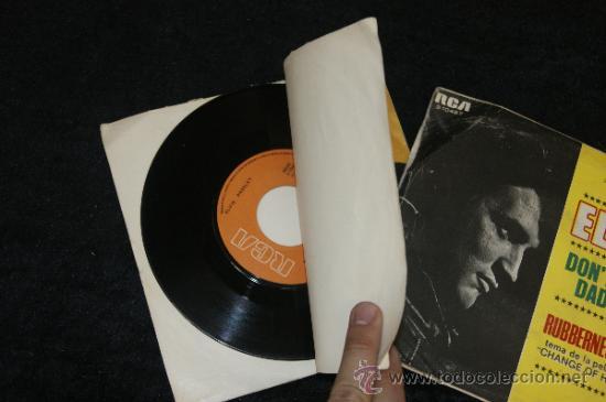 Discos de vinilo: Pareja de discos de Elvis Presley, antiguos. - Foto 4 - 34330803