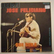 Discos de vinilo: SINGLE JOSÉ FELICIANO, QUE SERÁ. Lote 34228255