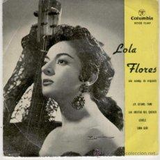Discos de vinilo: LOLA FLORES - AY, GITANO TANO - LAS COSITAS DEL QUERER + 2 - EP 1959 - VG+ / VG++. Lote 34234980