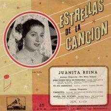 Discos de vinilo: JUANITA REINA - POR QUIEN ESTA SU PERSONA + 3 - EP SPAIN 1957 - VG+ / VG+. Lote 34235052