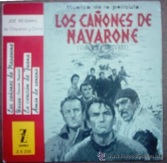 SINGLE , LOS CAÑONES DE NAVARONE - MUSICA DE PELICULA (Música - Discos de Vinilo - Maxi Singles - Bandas Sonoras y Actores)