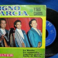 Discos de vinilo: - DIGNO GARCÍA Y SUS CARIOS - LA BAMBA + 3 - BELTER 1968. Lote 34253779