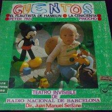 Discos de vinilo: TEATRO INVISIBLE DE RADIO NACIONAL DE BARCELONA, DIRECTOR: JUAN MANUEL SORIANO - CUENTOS - EP VINILO. Lote 34254591