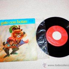 Discos de vinilo: EL GATO CON BOTAS , MOVIE PLAY MOVIEPLAY 1970 , CUENTO INFANTILE. Lote 34256080