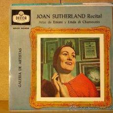 Discos de vinilo: JOAN SUTHERLAND - RECITAL. ARIAS DE ERNANI Y LINDA DI CHAMOUNIX - DECCA SDGE 80402 - 1960. Lote 34256929