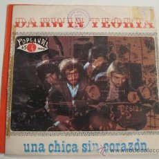 Discos de vinilo: DARWIN TEORIA - UNA CHICA SIN CORAZON -HAMMOND PSYCH 45. Lote 34265858