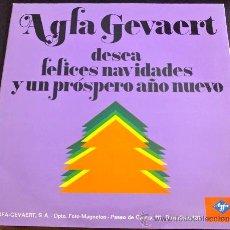 Discos de vinilo: AGFA GEVAERT DESEA FELICES NAVIDADES Y PRÓSPERO AÑO NUEVO - LA POLACA, IMPERIO DE TRIANA... LP. Lote 34270192