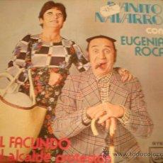 Discos de vinilo: JUANITO NAVARRO & EUGENIA ROCA EL FACUNDO + EL ALCALDE PROTESTON (ZAFIRO, 1976) PROMO. Lote 34386971