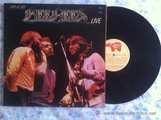 LP-BEE GEES-HERE AT LAST LIVE (Música - Discos - LP Vinilo - Pop - Rock - Extranjero de los 70)