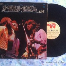 Discos de vinilo: LP-BEE GEES-HERE AT LAST LIVE. Lote 34276078