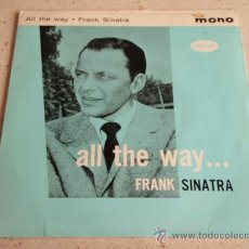 Discos de vinilo: FRANK SINATRA ( AL, THE WAY - CHICAGO - I DIDN'T KNOW WHAT TIME IT WAS - I COULD WRITE A BOOK ) EP. Lote 34284247