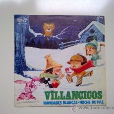 Discos de vinilo: SINGLE,VILLANCICOS NAVIDADES BLANCAS NOCHE DE PAZ, MOVIE PLAY 1968, EXCELENTE ESTADO . Lote 34291399