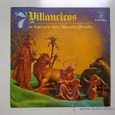 Discos de vinilo: SINGLE, 7 VILLANCICOS, EN EL PORTAL DE BELEN/MANOLITO, MANOLITO, COLUMBIA 1970, EXCELENTE ESTADO . Lote 34291439