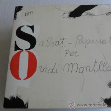 Discos de vinilo: OVIDI MONTLLOR - SALVAT PAPASSEIT 1975. Lote 34309059