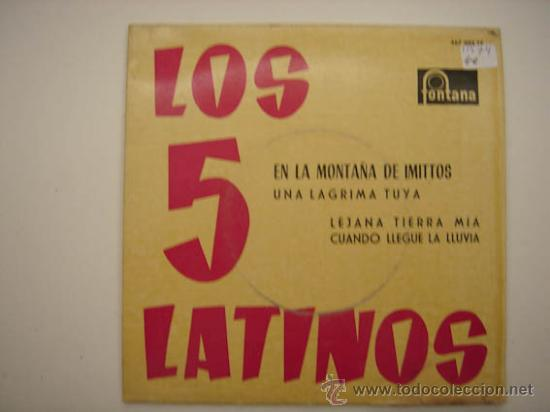 Discos de vinilo: Single Los 5 latinos - Foto 1 - 34304618