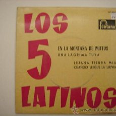 Discos de vinilo: SINGLE LOS 5 LATINOS. Lote 34304618