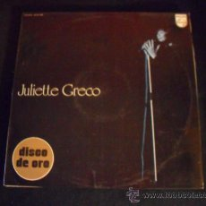 Discos de vinilo: JULIETTE GRECO, DISCO DE ORO. PHILIPS 1973. Lote 34309972