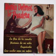 Discos de vinilo: MARIA DOLORES PRADERA. LA FLOR DE LA CANELA Y OTROS. SUFRIR EP 1961.. Lote 34311283