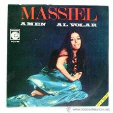 Discos de vinilo: MASSIEL. AMÉN - AL VOLAR. SINGLE. NOVOLA 1969.. Lote 34312044