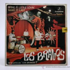 Discos de vinilo: LOS BRAVOS. BRING A LITTLE LOVIN - MAKE IT LAST. SINGLE 1967. COLUMBIA.. Lote 54329163