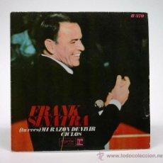 Discos de vinilo: FRANK SINATRA. TU ERES MI RAZÓN DE VIVIR - CICLOS. SINGLE 1968. HISPAFOX. . Lote 34313561