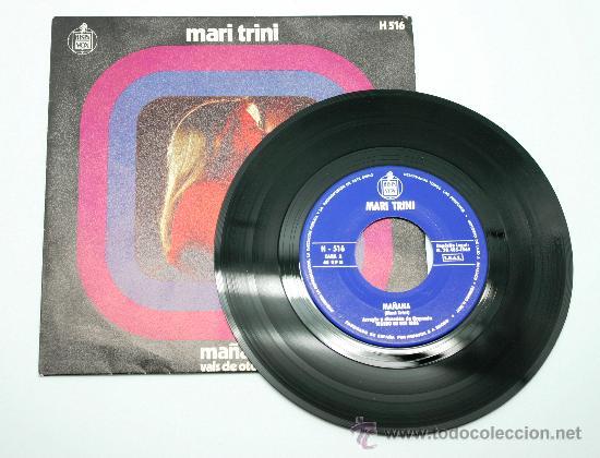 Discos de vinilo: Mari Trini. Mañana - Vals de Otoño. Single 1969. Hispa Vox. - Foto 3 - 34312152