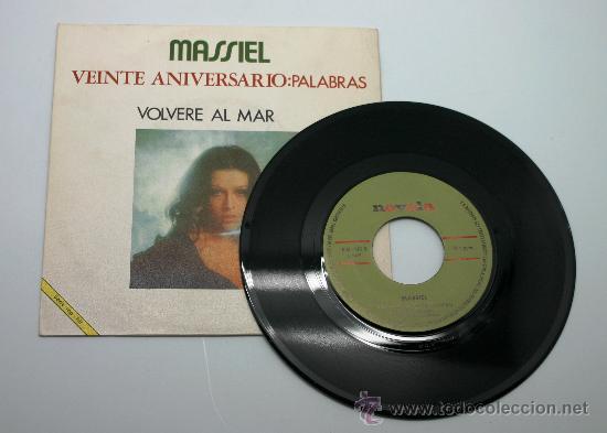 Discos de vinilo: Massiel. Veinte aniversario. Palabras - Volveré al Mar. Single. Novola 1971. - Foto 2 - 34311177