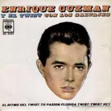 ENRIQUE GUZMAN - EL RITMO DEL TWIST - FLORIDA TWIST + 2 - SP SPAIN 1963 - VG / VG++