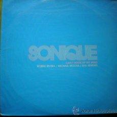 Discos de vinilo: SONIQUE CAN´T MAKE UP MY MIND/ROBBIE RIVERA/MICHAEL WOODS /STIG REMIXES/DOBLE LP 2003 PEPETO. Lote 34328091