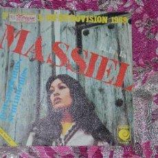 Discos de vinilo: VINILO MASSIEL FESTIVAL DE EUROVISIÓN 1.969-NOVOLA. Lote 34330684