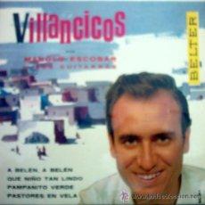 Discos de vinilo: VILLANCICOS POR MANOLO ESCOBAR. Lote 34348885