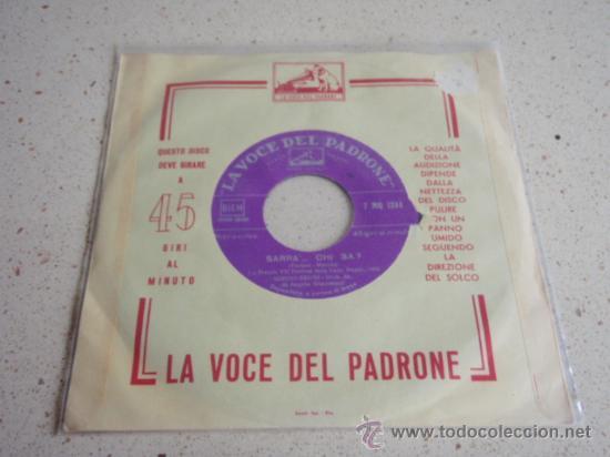 SERGIO BRUNI ( SARRA'    CHI SA? - VIENEME 'NZUONNO ) ITALY SINGLE45 LA  VOCE DEL PADRONE