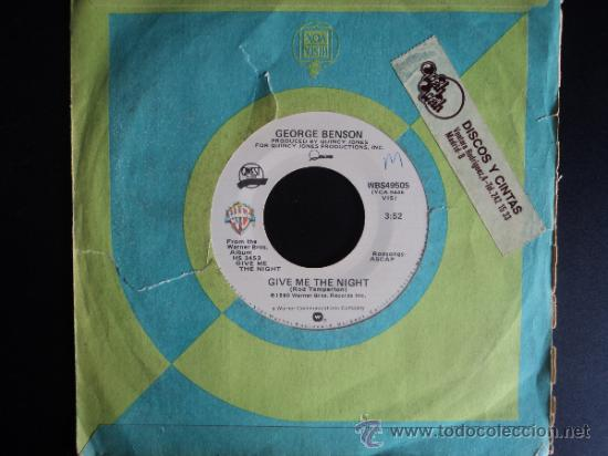 GEORGE BENSON GIVE ME THE NIGHT / DINORAH, DINORAH WB RECORDS 1980 (Música - Discos - Singles Vinilo - Funk, Soul y Black Music)