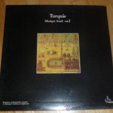 Discos de vinilo: TURQUIE - MUSIQUE SOUFI VOL.1 DE KUDSI ERGUNER & NEZIH UZEL (OCORA /RADIO FRANCE 1977) REEDICION '87. Lote 34358365
