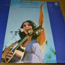 Discos de vinilo: JOAN BAEZ-GRACIAS A LA VIDA-INCLUYE NO NOS MOVERÁN. AÑO 1.974. Lote 34359357