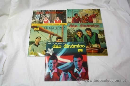 LOTE DE 5 SINGLES DUO DINAMICO AÑOS 60 - LA VOZ DE SU AMO - (Música - Discos - Singles Vinilo - Grupos Españoles 50 y 60)