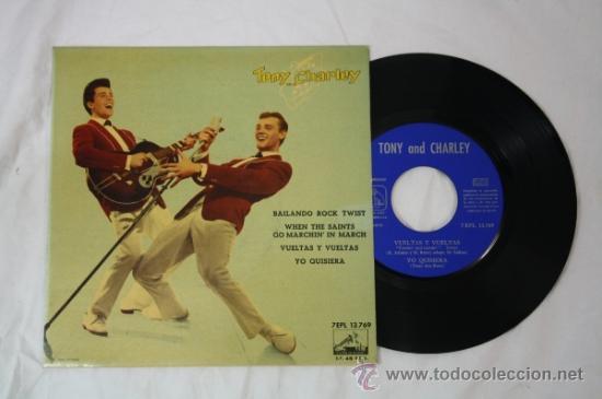SINGLE TONY AND CHARLEY - BAILANDO ROCK TWIST - EDITADO LA VOZ DE SU AMO 45 RPM (Música - Discos - Singles Vinilo - Grupos Españoles 50 y 60)