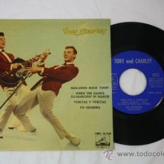 Discos de vinilo: SINGLE TONY AND CHARLEY - BAILANDO ROCK TWIST - EDITADO LA VOZ DE SU AMO 45 RPM. Lote 34361000